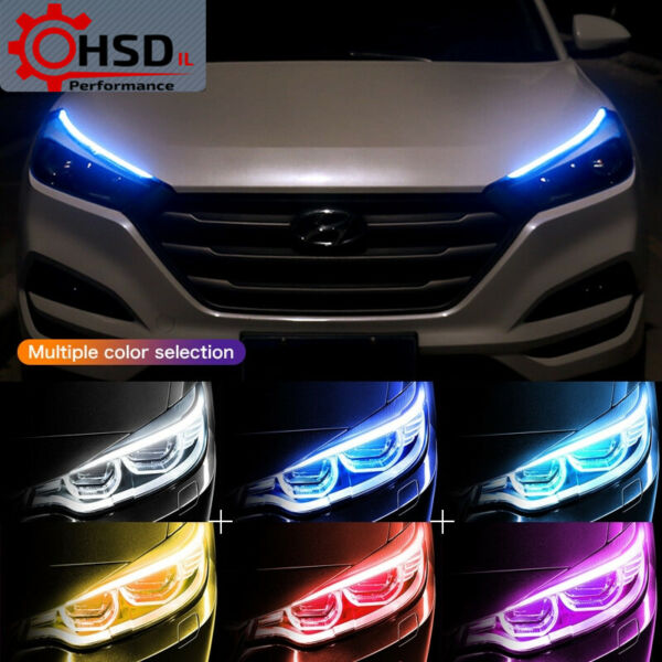LED DRL Headlight Strip Daytime Lights Kit For BMW E90 E60 E46 F30 F10 3 Series