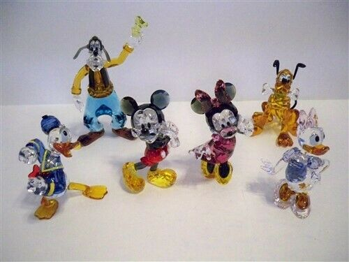 SWAROVSKI MICKEY MOUSE MINNIE MOUSE DONALD DUCK DAISY DUCK GOOFY PLUTO SET BNIB