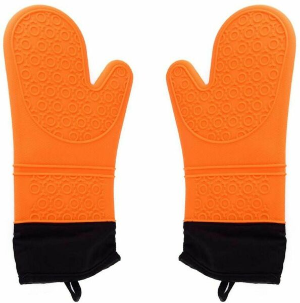 Silicone Oven Mitts Professional Heat Resistant Kitchen Gloves