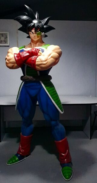 PROMO PRICE FINET BARDOCK DRAGON BALL Z  SUPER SAIYAN Custom Statue Life Size