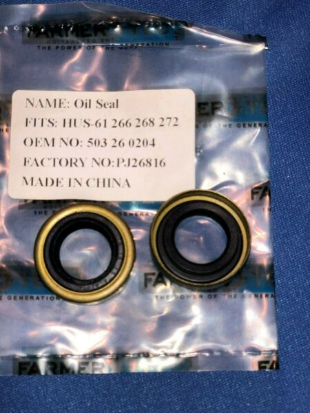 New oil seals for Husqvarna 61 266 268 272 replaces 503 26 02-04