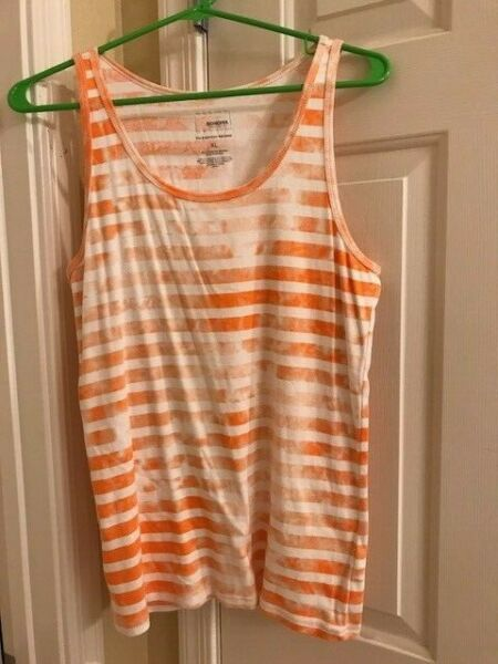 Sonoma Every Day Rib Tank Top OrangeWhite