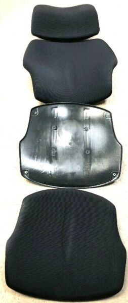 Cushions for Humanscale Freedom Chair Seat Back & Headrest Foam Black Fabric
