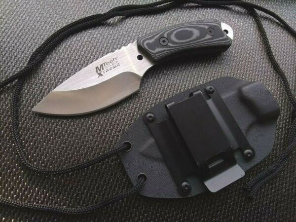 Micarta EDC Fixed Blade Knife Horizontal Vertical Concealed Carry Kydex Holster $33.95