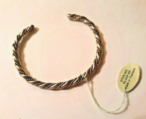 Vintage Sterling Sillver Twisted Cuff Bracelet