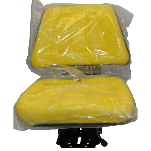 7468 Yellow Utility Suspension Seat Assembly Fits John Deere Tractor Models