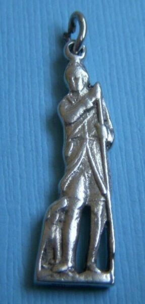 Vintage man with dog sterling charm $34.99