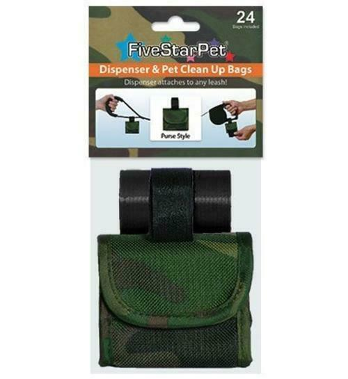 Five Star Pet Green Camouflage Purse Style Dispenser and Pet Clean up Bags $19.99