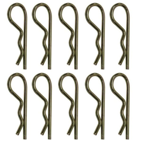 Set of 10 Implement Grip Clip Hair Pins Fits Farm Tractor 2-1516