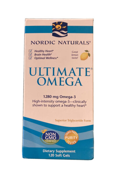Nordic Naturals Ultimate Omega 1280 mg Softgels 60 x 2 = 120 Softgels NEW Lemon $29.98