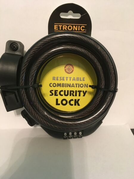 ETRONIC Security Lock 6 ft Resettable Combination Weather Rust Proof Lock #301 $12.00