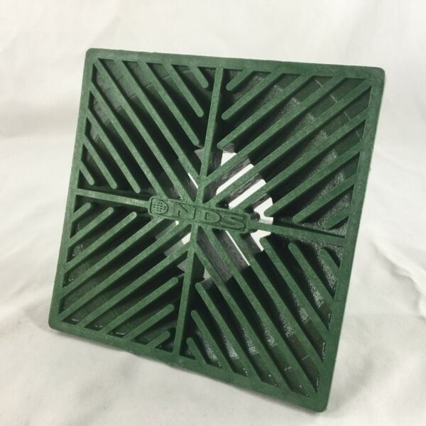 NDS 6quot; Inch Square Grate Green Polyolefin Square National Diversified Sales