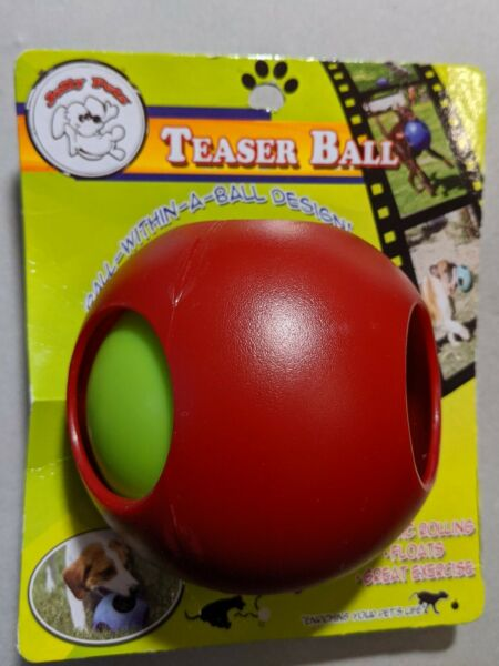 Jolly Pets Teaser Ball Erratic Interactive Tough Dog Chew Toy Red 4.5 inch $9.99