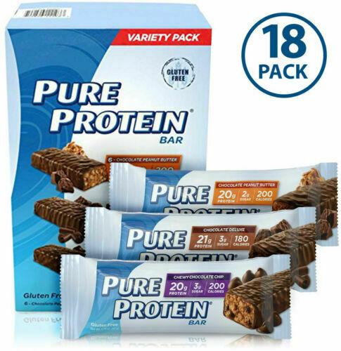 18 Pure Protein Bars High Protein Nutritious Snacks to Support Energy Low Sugar