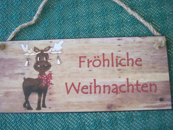 Door Sign Metal Plate Sign with Slogan Present Sign Merry Christmas