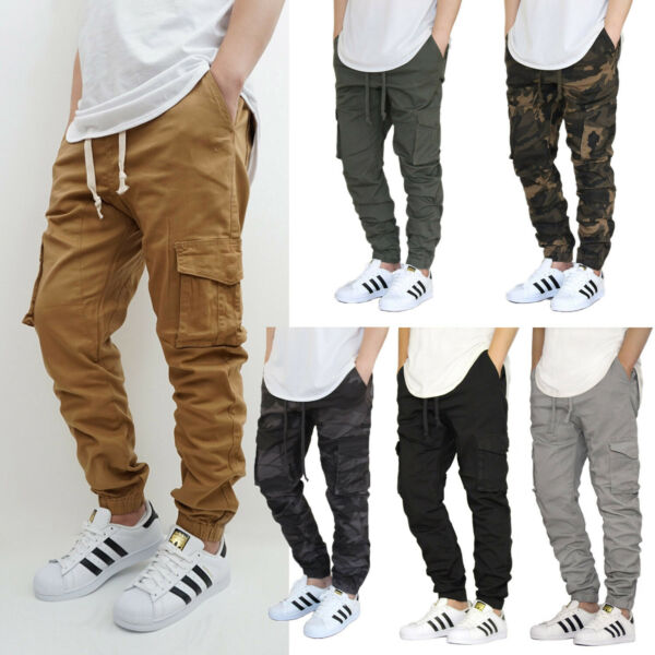 MEN#x27;S CARGO TWILL STRETCH JOGGER PANTS S 5XL 5 COLORS * VICTORIOUS *