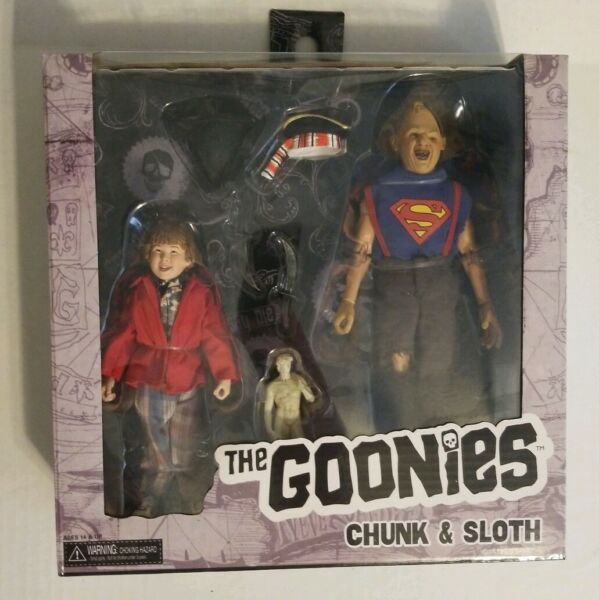 "⛓GOONIES SLOTH AND CHUNK 8"" RETRO  CLOTHED ACTION FIGURE 2-PACK NECA ⛓"