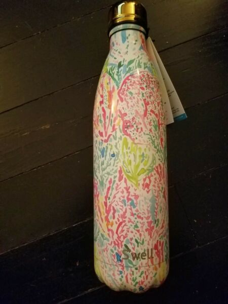 Swell Lilly Pulitzer Large 25 Oz Lets Cha Cha Reusable Thermos Bottle New