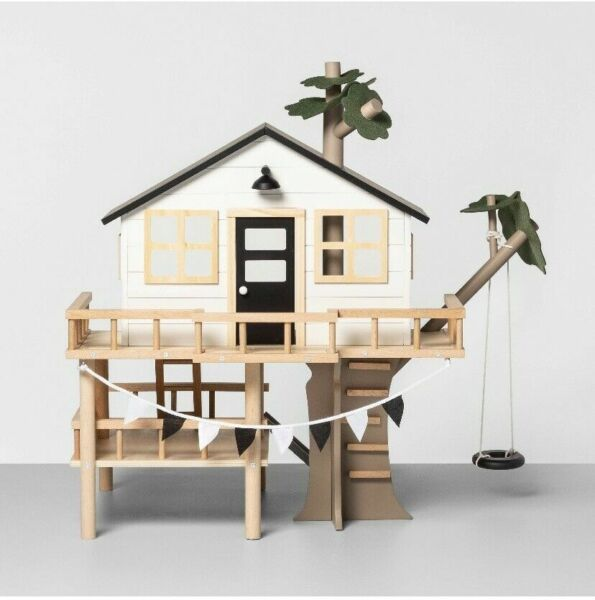 Hearth And Hand With Magnolia Wood Tree House Toy Dollhouse NEW OPEN BOX