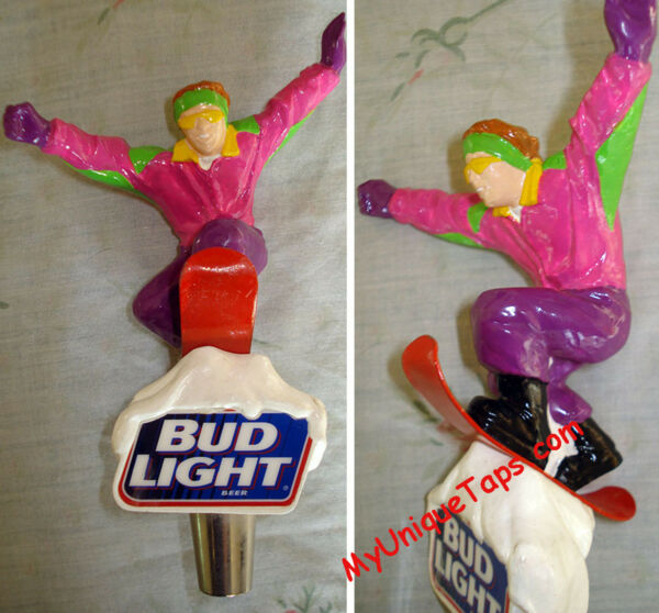 Bud Light Hip Snowboarder Beer Tap Handle - Visit my ebay store Skiier
