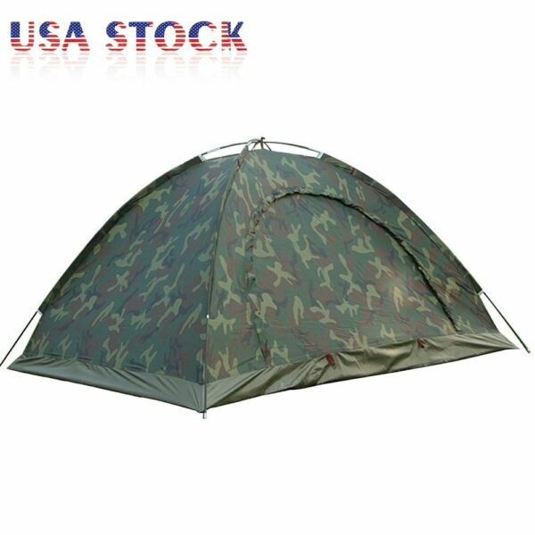 Camouflage Tent Portable for Outdoor Camping Hiking Waterproof 4 Season 2 Person $29.44