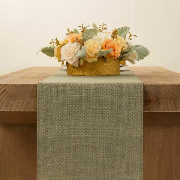 Lot of 5 10 20 Burlap Table Runner Rustic Hessian Jute Linen Wedding Banquet Dec