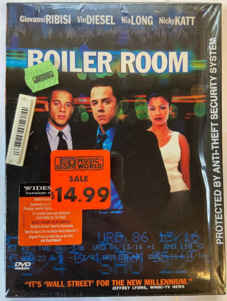 Boiler Room DVD 2000 BRAND NEW SEALED VIN DIESEL NIA LONG GIOVANNI RIBISI $5.99