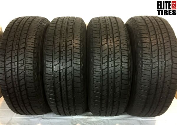 Set of 4 Goodyear Wrangler Fortitude HT P26565R18 265 65 18 Tire - Driven Once