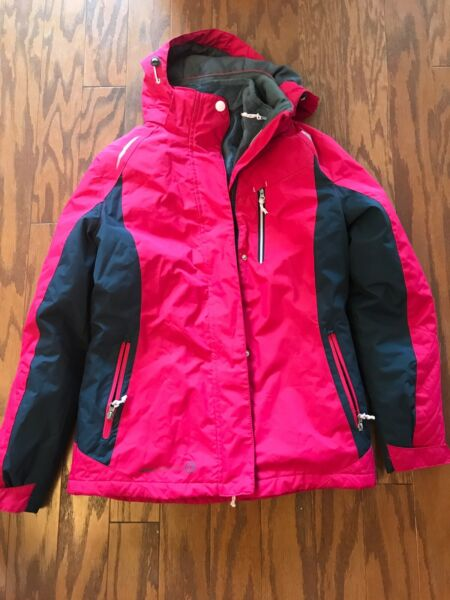 RADIANCE FREE COUNTRY Quilted Insulated Pink Hooded Jacket Women#x27;s Size Small $35.00