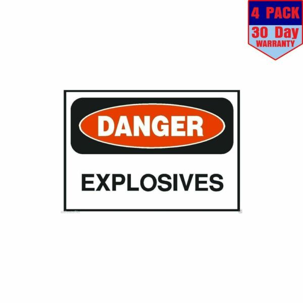 Danger Explosives OSHA Safety Sign 4 pack 4x4 Inch Sticker Decal
