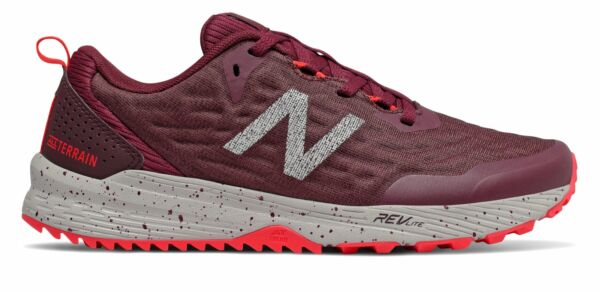New Balance Women's NITREL v3 Trail Shoes Red with Purple