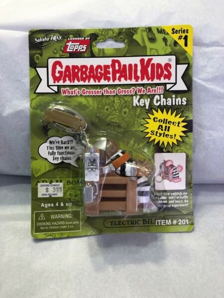 New Sealed Garbage pail kids series 1 Electric BillKey Chain! Mint Condition.