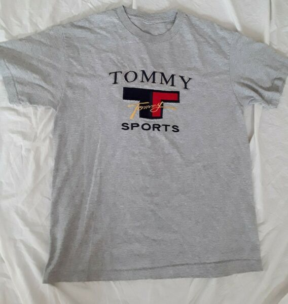 vtg 90#x27;s TOMMY SPORTS hilfiger t shirt embroidered Size L $27.00