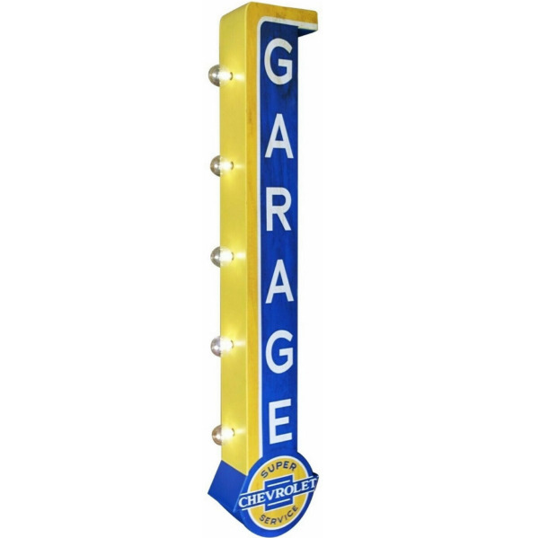 Super Chevrolet Service Garage LED Marquee Sign Double Sided Light Chevy