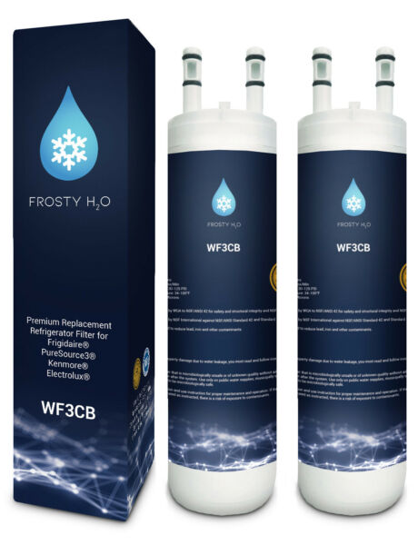 Pure source WF3CB Replacement Refrigerator Water Filter FrostyH2O (2pack)