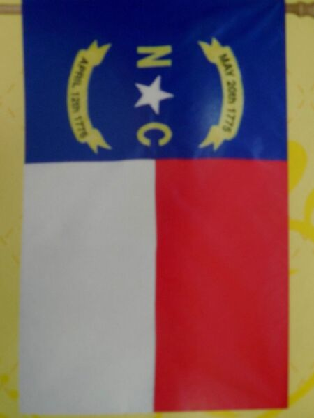 State of North Carolina The old North State applique HOUSE flag 28
