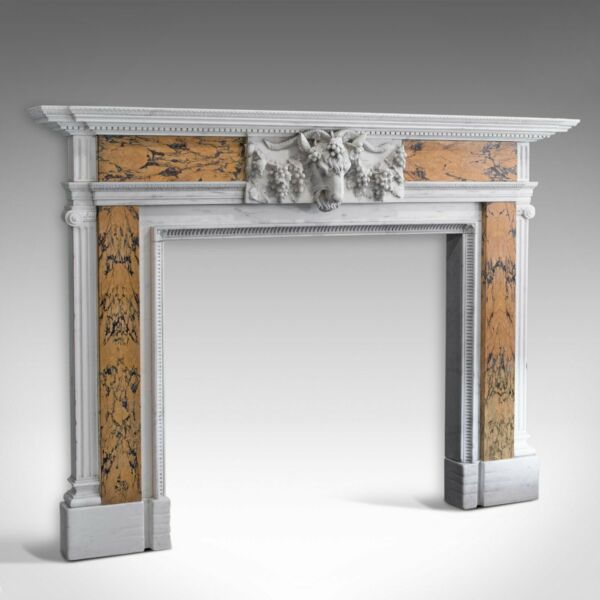 Georgian Revival Marble Fireplace English Fire Surround Dominic Hurley