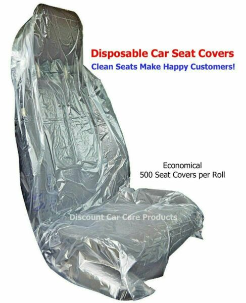 Plastic Disposable Car Seat Covers 500 Seat Covers Per Roll Unbeatable Quality $68.95