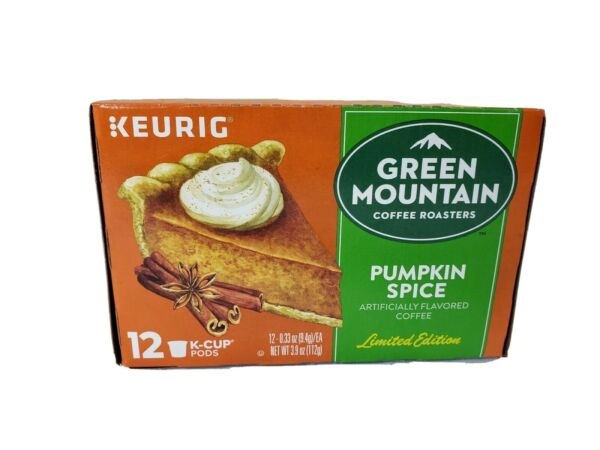 Green Mountain Pumpkin Spice Kcups Keurig cups Limited Edition