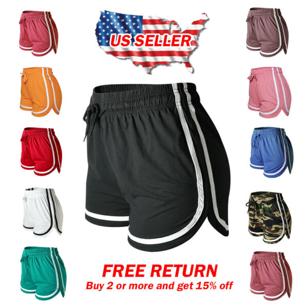Women's Athletic Yoga Running Workout Fitness GYM Shorts Lounge Short Pants $14.99