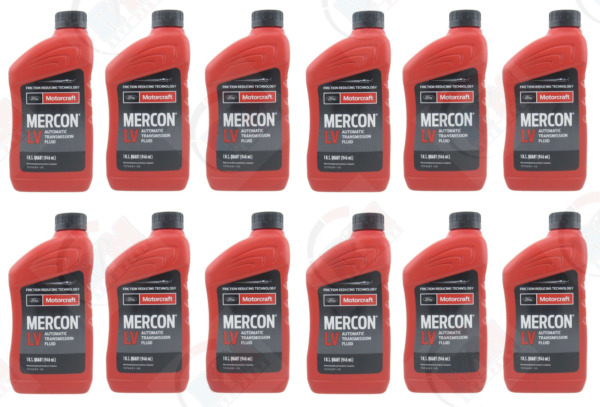Motorcraft Mercon LV Automatic Transmission Fluid 12 Quarts Pack Ford Original🔥