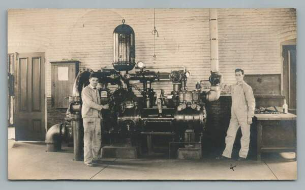 Boiler? Steam Engine Equipment? RPPC South Poland ME Industrial Occupation Photo $29.99