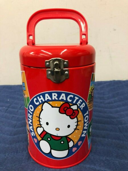 Sanrio Vintage Character Town Tin Can Rare