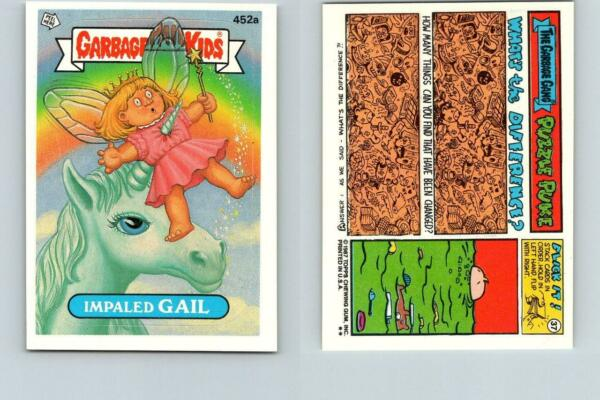 1987 SERIES 11 TOPPS GPK GARBAGE PAIL KIDS 452a IMPALED GAIL