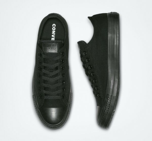 Converse Chuck Taylor All Star OX Low Top Black Monochrome NEW IN BOX