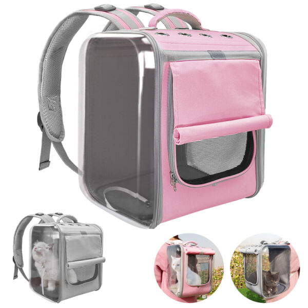 Breathable Pet Backpack Carriers Outdoor Travel Dog Cat Foldable Mesh Bag Cage $67.99