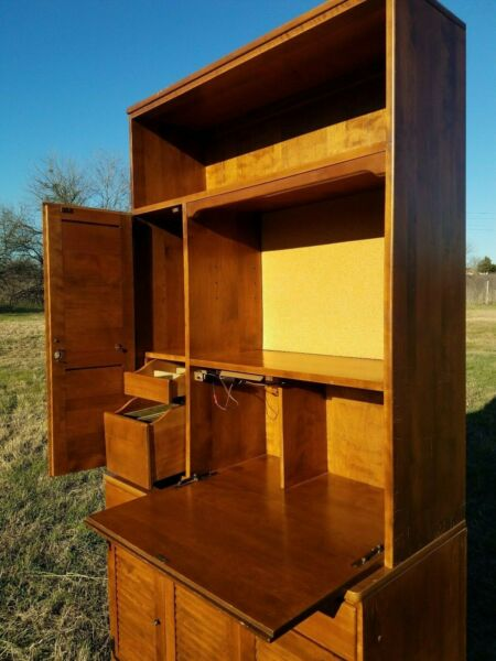 Ethan Allen Photographers Storage Cabinet with Lock and Light 10-4059  CRP Maple