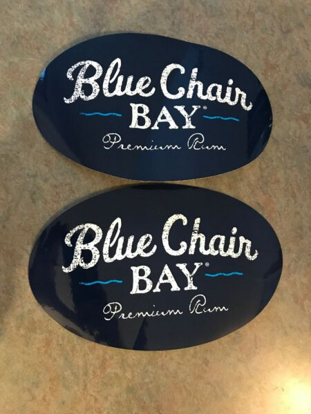 2 Blue Chair Bay Rum Stickers. Kenny Chesney Island Life 🏝 XL. 🎄SALE $10.49