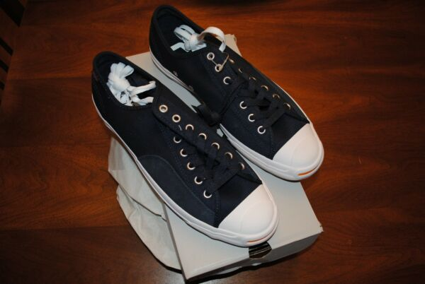 Converse Jack Purcell Pro O Dark Obsidian/White New! Mens 10.5 Womens 12 165295C