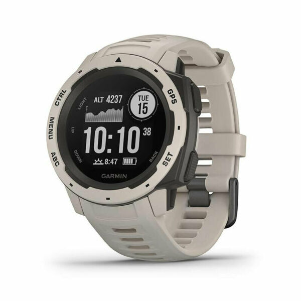 Garmin Instinct Rugged Outdoor Watch with GPS and Heart Rate Monitoring Tundra